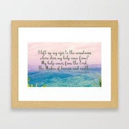Psalm 121 1 Framed Art Print