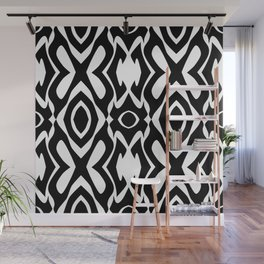 Virulent Black - Abstract Art Wall Mural