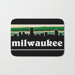 Milwaukee Cityscape Bath Mat