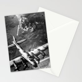 B-17 Bomber Over Germany Painting Stationery Cards