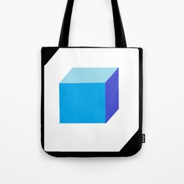 Blue Cube Tote Bag