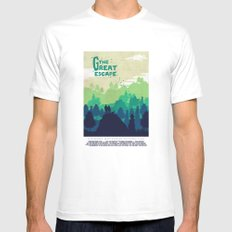 The great escape  Mens Fitted Tee White MEDIUM