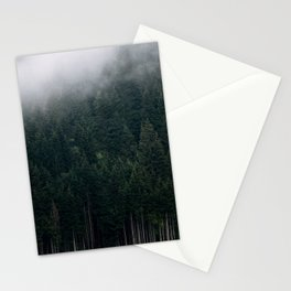 Mystic Pines - A Forest in the Fog Stationery Cards