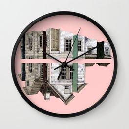 one or two houses Wall Clock