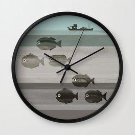 Pirañas en el río / river piranhas Wall Clock