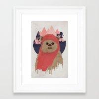 ewok Framed Art Prints featuring Ewok by Robert Scheribel