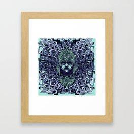 Boy with Labirinth Horns Framed Art Print