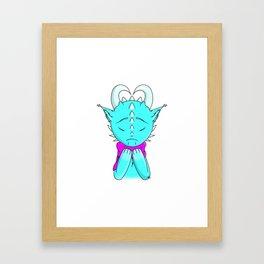 Winter Dragon Framed Art Print