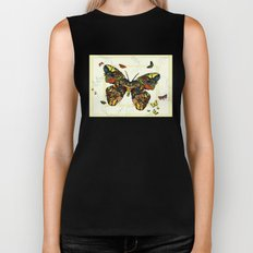 Colorful Butterfly Collage Biker Tank