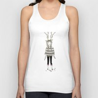 antlers Tank Tops featuring Antlers by Helena.S
