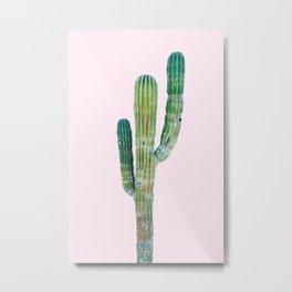 Pop Art Cactus Metal Print