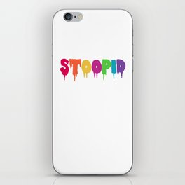 Stoopid Meme Drip Drippy iPhone Skin