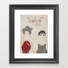 In the Mood for Love - Minimal Poster Framed Art Print