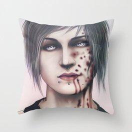 Blood Shake Throw Pillow