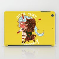fangirl iPad Cases featuring 100% Yuri fangirl by pancakearts