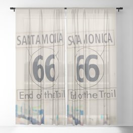 the end of route 66 ... Sheer Curtain