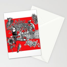 Collage rouge 5 Stationery Cards