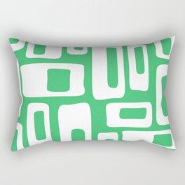 Retro Mid Century Modern Abstract Pattern 335 Green Rectangular Pillow