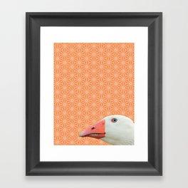 Goose Portrait, Star Pattern Montage Framed Art Print