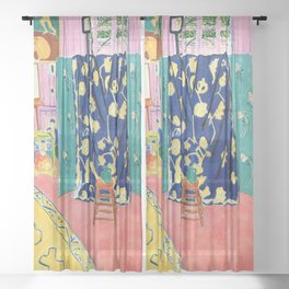 Henri Matisse The Pink Studio Sheer Curtain
