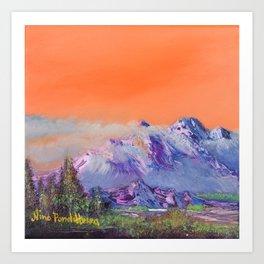 Mountains landscape. Diptych Art Print