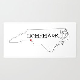 Homemade in the Carolinas Art Print