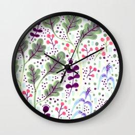Marker Florals Wall Clock