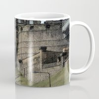 edinburgh Mugs featuring Edinburgh Castle by RMK Photography