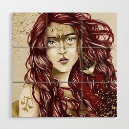 Libra Wood Wall Art