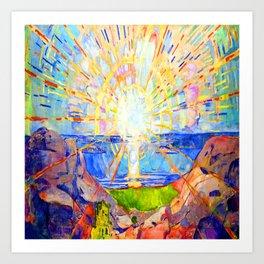 Edvard Munch The Sun Kunstdrucke