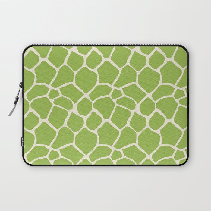 35531842264f Giraffe Pattern Animal Print (lime) Laptop Sleeve by beezkneez ...