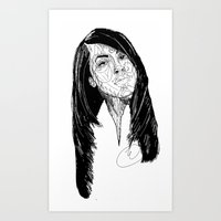 aaliyah Art Prints featuring Aaliyah by Icon Ink