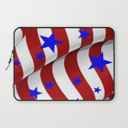 PATRIOTIC AMERICANA JULY 4TH BLUE STARS DECORATIVE ART Laptop Sleeve