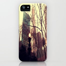 Vintage view out of Central Park  iPhone Case