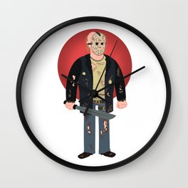 Jason Voorhees Friday the 13th Reboot Wall Clock