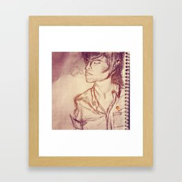 Quick Little Smoke Break Framed Art Print