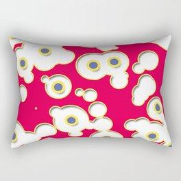 Bevelled circles Rectangular Pillow