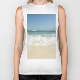 beach love shoreline serenity Biker Tank