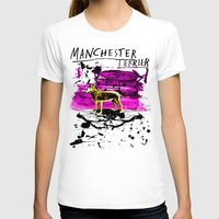 manchester T-shirts featuring Manchester Terier by Genco Demirer