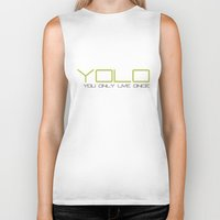 yolo Biker Tanks featuring YOLO by PSimages