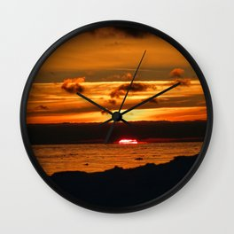 Dip into the sea Wall Clock