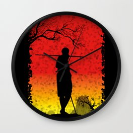 The African Warrior Wall Clock