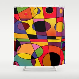 Abstract #79 Shower Curtain