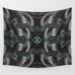 Black and green patterns Wall Tapestry