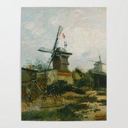 Windmills on Montmartre Poster