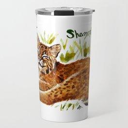 Shamrock Bobcat Smile Travel Mug
