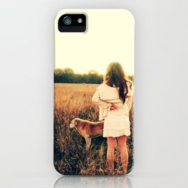Girl and Dog Wish iPhone Case
