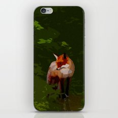 FOX IN A COOL GREEN WORLD iPhone & iPod Skin