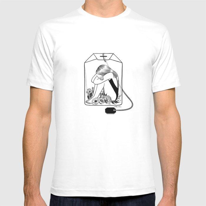 lady grey tea t shirt by hennkim society6. Black Bedroom Furniture Sets. Home Design Ideas