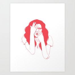 Pink Peek Art Print